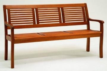 3 Sitzer Holzbank Eukalyptus