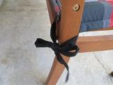 8 cm Luxus 2-Sitzer Bankauflage B253 ca. 120x48x8 cm, grau rot, UVP 29,95€ - 1