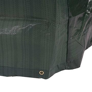 Abdeckplane Abdeckhaube Schutzplane Schutzhülle Regenschutz für Gartenbänke, 180x70x89cm - 2