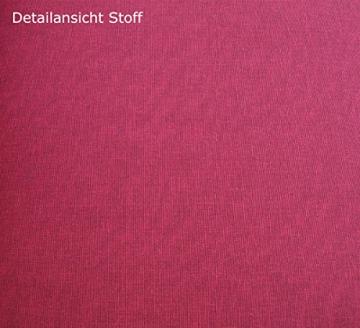 Auflagenset TACOMA 2-teilig für Bank 3-sitzer 150cm, rot - uni - 2