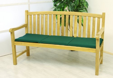 bank auflage sitz polster park gartenbank 146cm 3 sitzer hochwertig gr n gartenbank selber. Black Bedroom Furniture Sets. Home Design Ideas