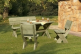Gartenbank mit Picknicktisch und 2 Stühlen Artikelbild