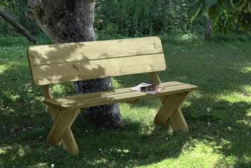 Gartenbank mit Picknicktisch und 2 Stühlen Detailansicht