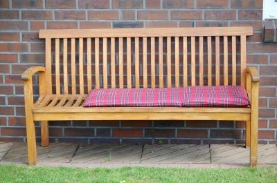 Holz Gartenbank mit Auflage