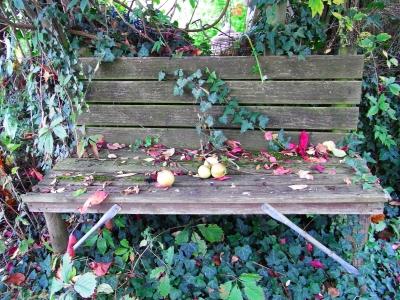 Gartenbank selber gebaut