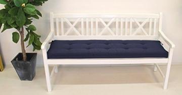 Polsterauflage Sitzkissen Gartenbank Parkbank 180 cm (Blau) - 1