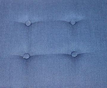 Polsterauflage Sitzkissen Gartenbank Parkbank 180 cm (Blau) - 2