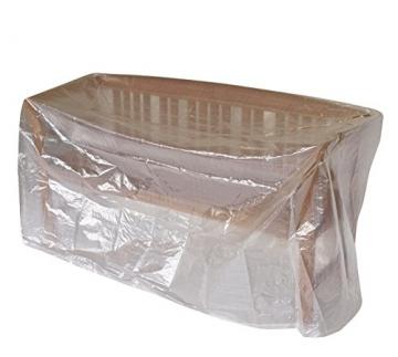 Schutzhülle Abdeckhaube für Bänke 160cm, PE transparent. Auch für Tische verwendbar. - 1