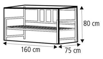 WEHNCKE Schutzhülle für Gartenbänke ca. 160 x 80 x 75 cm - 2