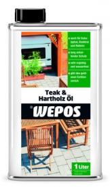 Wepos 04003 Teak- und Hartholz Öl 1 Liter - 1